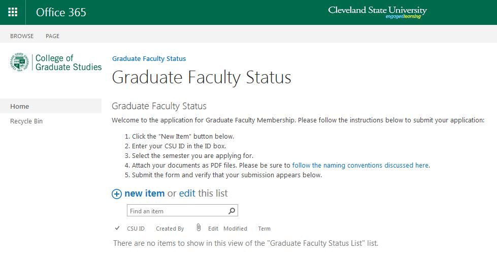 Grad Status Step 3